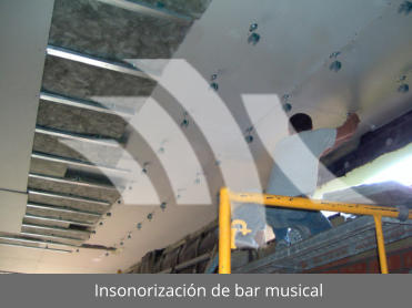 Insonorización de bar musical